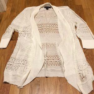 White house black market 3/4 length cardigan